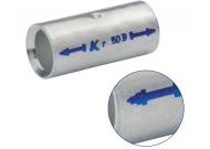 Трубчатый медный соединитель KLAUKE (гильза) спец. типа ( BC-тип) - для уплотнённых многопроволочных жил  10 мм2 (50 шт.)