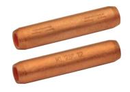 Трубчатые медные нелуженые соединители (гильзы) 50 мм2, с барьером, для ненатяжных соединений 10-30 кВ (10 шт.)