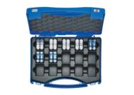 """Комплект: 7 пресс-матриц серии """"5"""" в пласт. кейсе - для трубчатых медных нак-ков KLAUKE BC-типа 6-185 мм2 (для уплотнённых многопров. жил), шестигранник"""