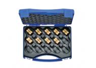 """HD4SET Комплект: 9 пресс-матриц серии """"4"""" ( для медн. трубчатых. DIN нак-в 6 - 120 мм2 ) в пласт. кейсе"""