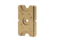 """Матрица серии """"5"""" для трубч. медных DIN наконечников для двух сечений 10+50 мм2 (шестигранник)"""