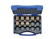 """HR5SET Комплект: 8 пресс-матриц серии """"5"""" ( для медн. трубчатых облегч. нак-в 6 - 240 мм2 ) в пласт. кейсе"""