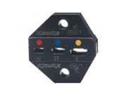 """Матрица серии 50"""" для кольцевых и др. изолир. наконечников 0,1-0,4 мм2 (овал)"""