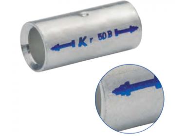 Трубчатый медный соединитель KLAUKE (гильза) спец. типа ( BC-тип) - для уплотнённых многопроволочных жил  50 мм2 (25 шт.)