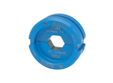"""Матрица серии """"22"""" для трубчатых медных наконечников KLAUKE BC-типа 6 мм2 (для уплотнённых многопров. жил), шестигранник"""