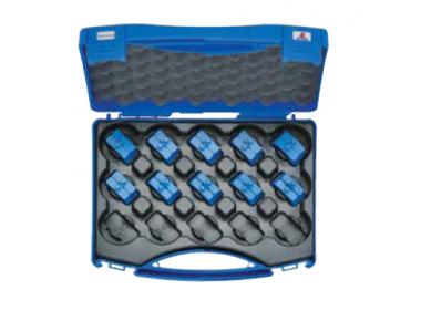 """Комплект: 10 пресс-матриц серии """"4"""" в пласт. кейсе - для трубчатых медных нак-ков KLAUKE BC-типа 6-150 мм2 (для уплотнённых многопров. жил), шестигранник"""