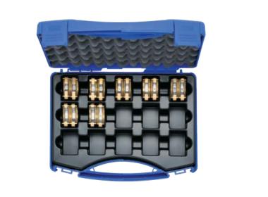 """HD5SET Комплект: 7 пресс-матриц серии """"5"""" ( для медн. трубчатых  DIN нак-в 6 - 185 мм2 ) в пласт. кейсе"""