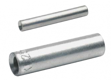Стыковые соединители (гильзы) без ограничителя для сплошных жил 4 мм2, медь, луженые (100 шт.)