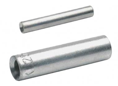 Стыковые соединители (гильзы) без ограничителя для сплошных жил 6 мм2, медь, луженые (100 шт.)
