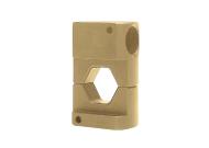 """Матрица серии """"45"""" для трубч. медных DIN наконечников 120 мм2 (шестигранник, широкий обжим)"""