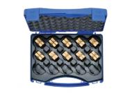 "HR4SET Комплект: 10 матриц серии ""4"" ( для медн. облегч. нак-в 6 - 150 мм2 ) в пласт. кейсе"