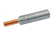 Алюм. наконечник для многопровол./сплошных жил 150/185 мм2 с медным контактным штырем диам. 12 мм (10 шт.)