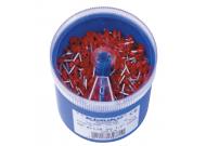 GR4718DO Втул. изолир. наконечники 1,0мм2, дл. втулки 8мм, цвет по DIN46228ч.4 - красный (1000 шт. в ударопрочном пласт. боксе)